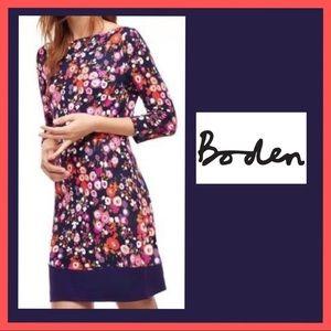Boden Olivia Day Poppy Print Shift Dress size 8